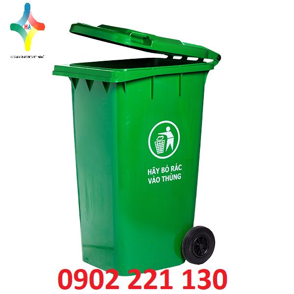 Thùng rác nhựa 120L bền đẹp,bảo vệ môi trường