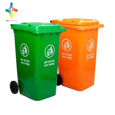 Thùng rác nhựa 220 L chất lượng cao, giá rẻ