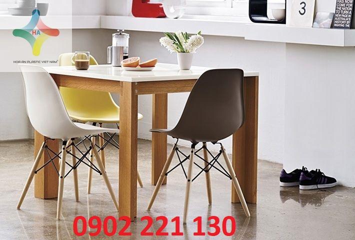 Bài trí không gian với ghế có màu sắc nhã nhặn