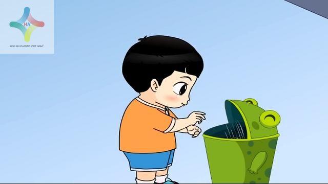 Vứt rác đúng nơi qui định góp phần giảm thiểu rác thải xả ra môi trường