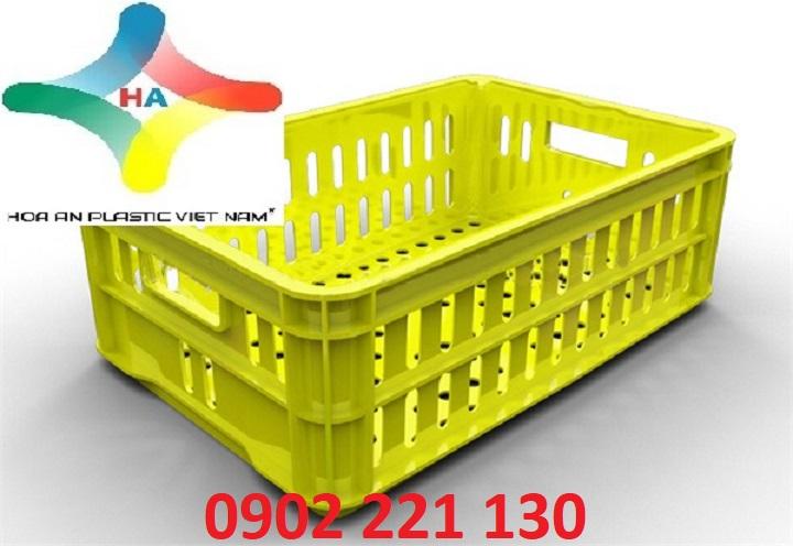 Sóng nhựa (rổ nhựa) HS020 được ưa chuộng sử dụng trong chế biến nông sản