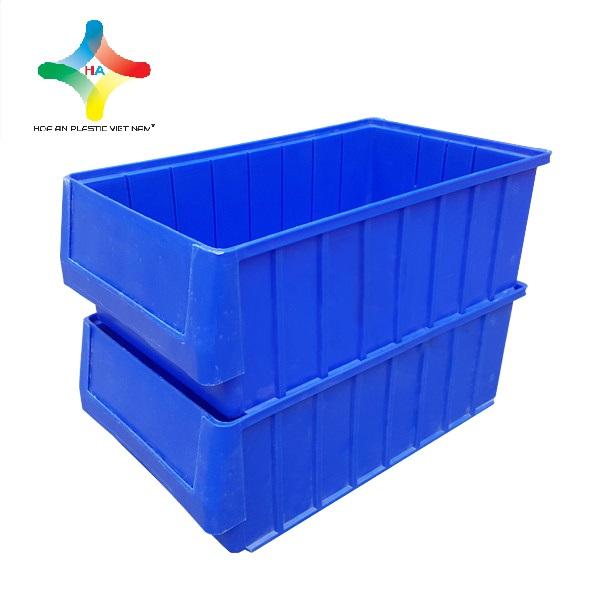 Thùng nhựa đặc (sóng nhựa bít) KPT01 xếp chồng lên nhau gọn gàng