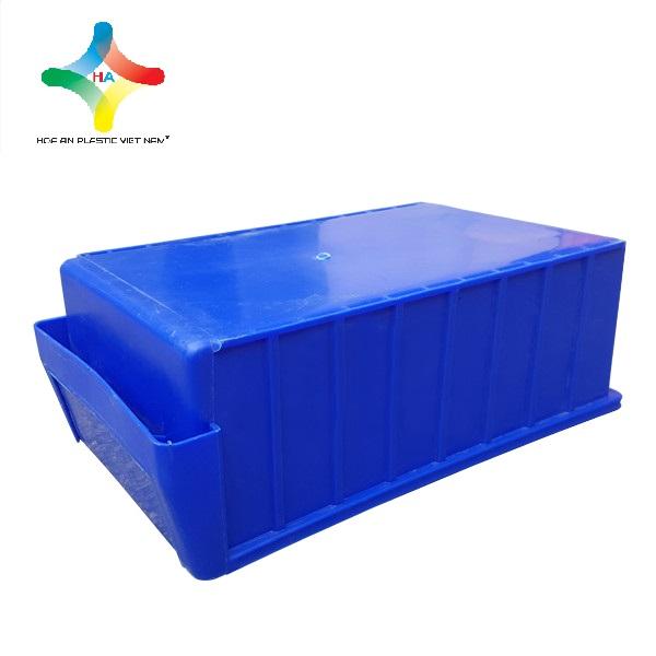 Thùng nhựa đặc (sóng nhựa bít) KPT01 mặt đáy nhẵn phẳng